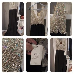 Formal beaded evening gown